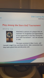 Golf Tournament Plaque
